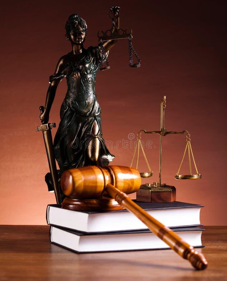 Estatua de la justicia de la señora, concepto de la ley imagen de archivo
