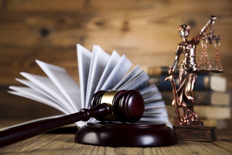 Estatua de la justicia de la señora, concepto de la ley fotos de archivo