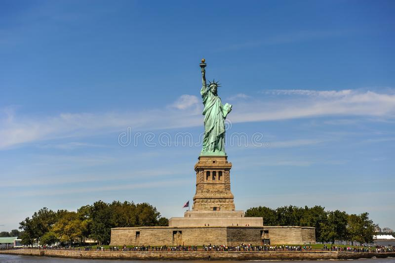 Estatua de la libertad en New York City imagen de archivo