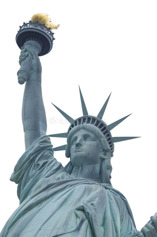 Estatua De La Libertad Sobre Blanco Fotografía de archivo