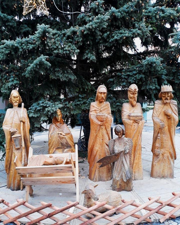 Estatua de la luz de la paz de Belén en Bratislava imagen de archivo libre de regalías
