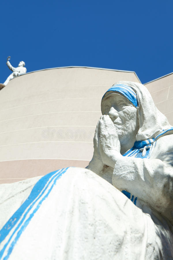 Estatua de la madre Teresa fotografía de archivo