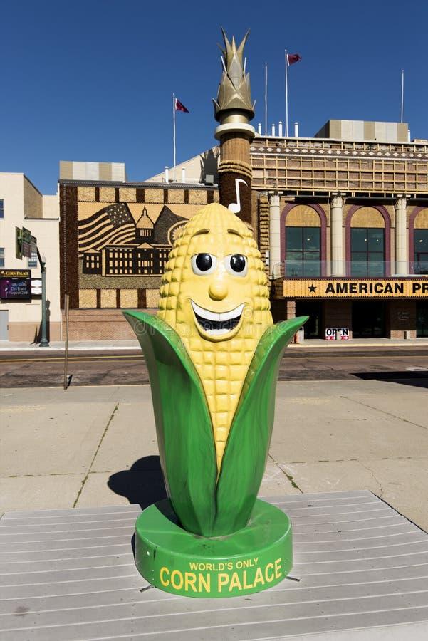 Estatua de la mazorca de maíz fotografía de archivo