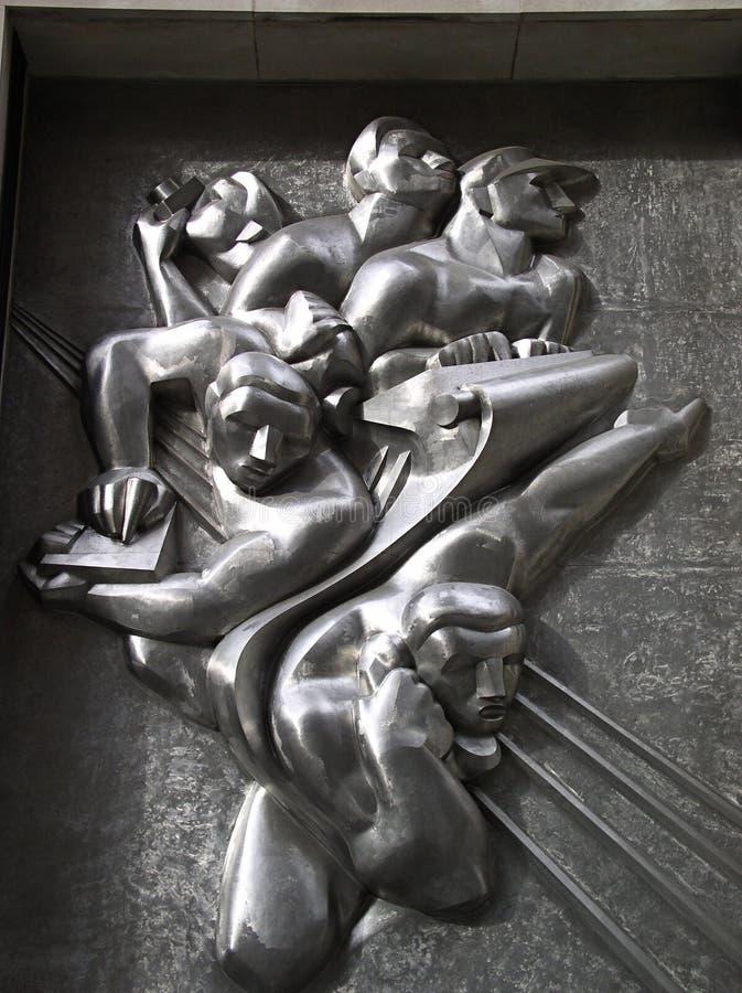 Estatua de la pared fotos de archivo libres de regalías
