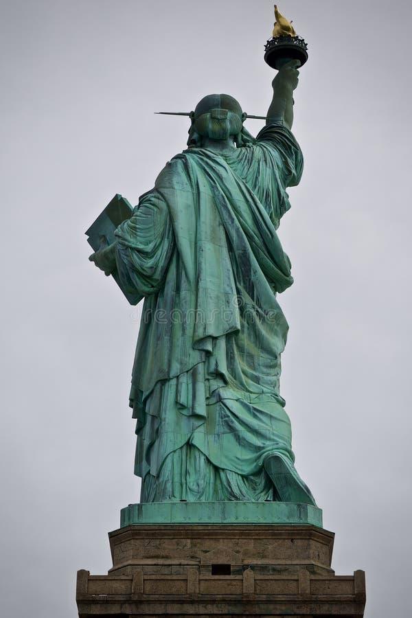Estatua de la parte trasera de la libertad imagen de archivo