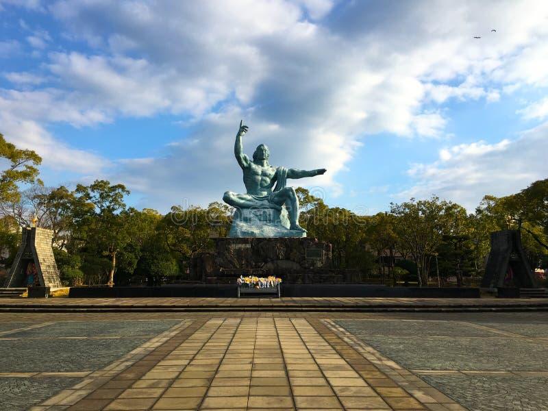 Estatua de la paz en Nagasaki foto de archivo libre de regalías