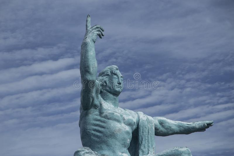 Estatua de la paz de Nagasaki imagenes de archivo