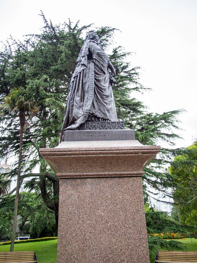 Estatua de la reina Victoria en Albert Park, Auckland, Nueva Zelanda imágenes de archivo libres de regalías