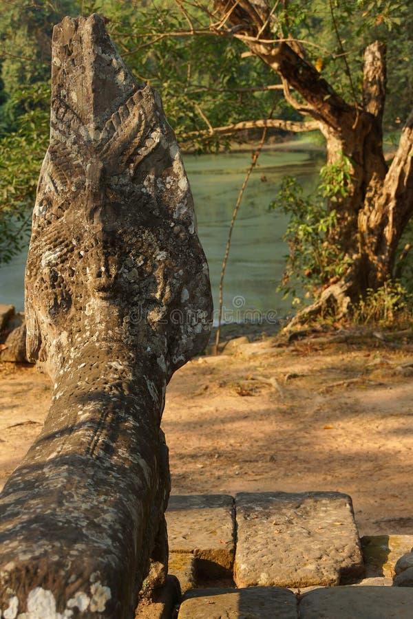 Estatua de la serpiente del Naga foto de archivo libre de regalías
