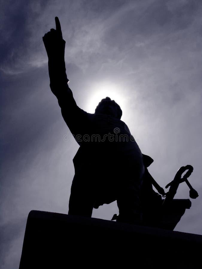 Estatua De La Silueta Fotografía de archivo libre de regalías