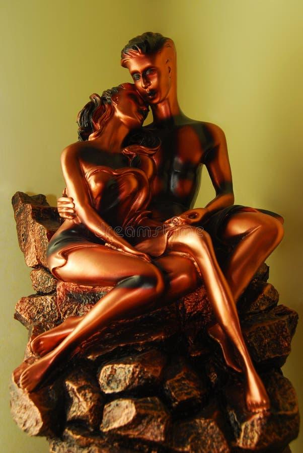 Estatua de los amantes imágenes de archivo libres de regalías