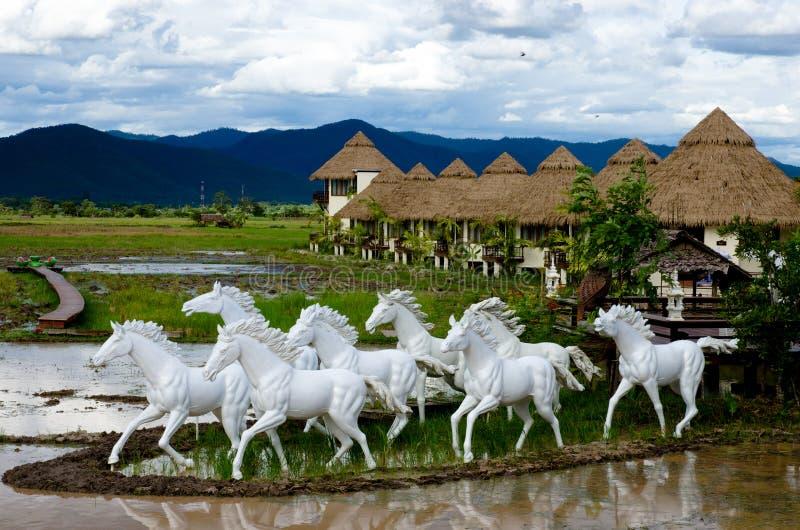 Estatua de los caballos foto de archivo libre de regalías