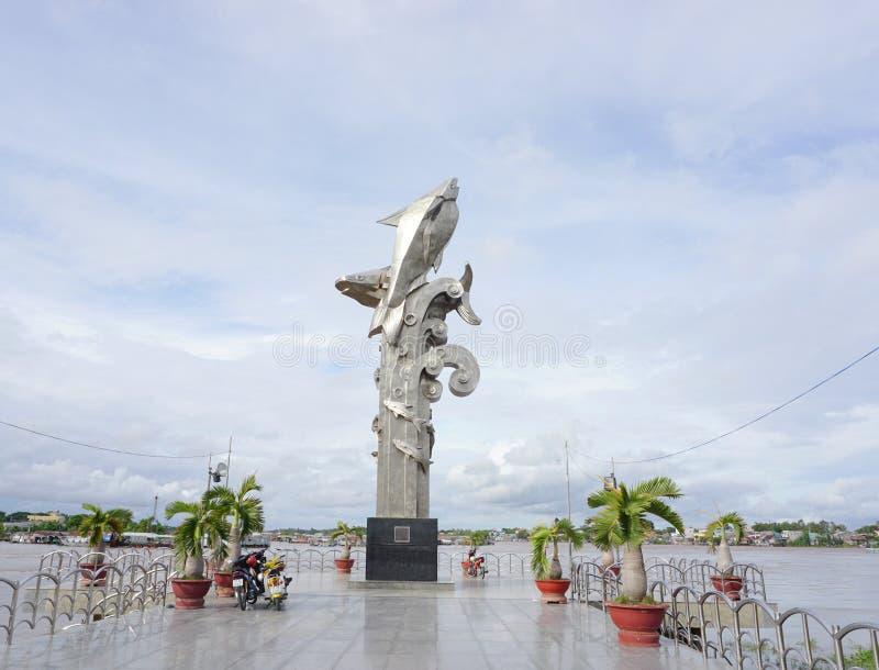 Estatua de los pescados vagos Sa en la ciudad de Chau doc. foto de archivo libre de regalías