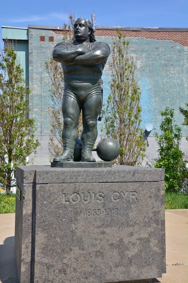 Estatua de Louis Cyr foto de archivo