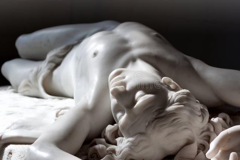 Estatua de mármol de Abel foto de archivo libre de regalías