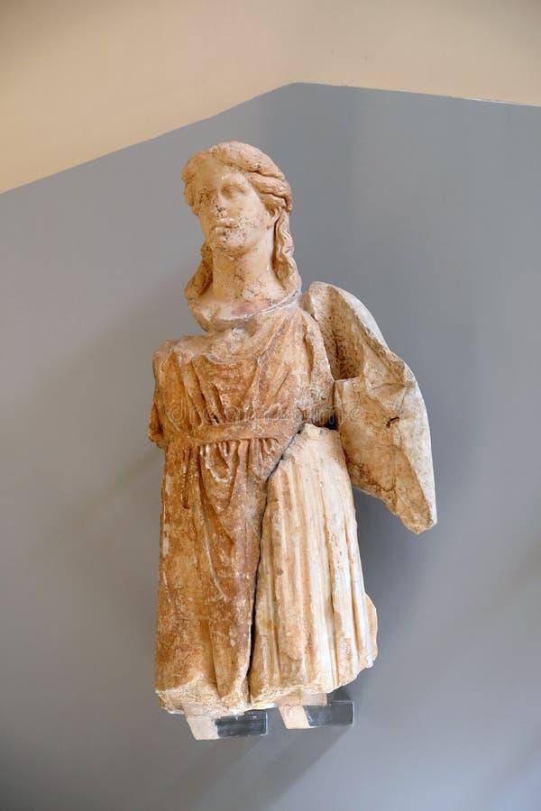 Estatua de mármol del griego clásico, Delphi Museum, Grecia fotos de archivo libres de regalías