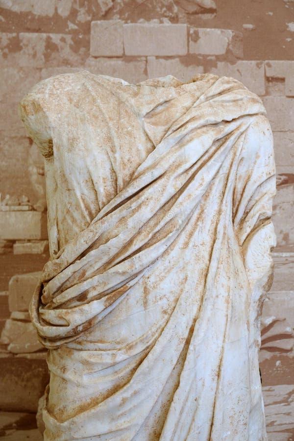 Estatua de mármol del griego clásico, Delphi Museum, Grecia imagen de archivo