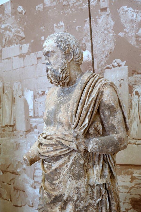 Estatua de mármol del griego clásico, Delphi Museum, Grecia imagen de archivo libre de regalías