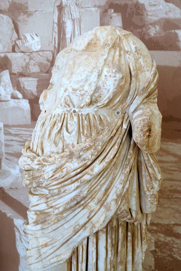 Estatua de mármol del griego clásico, Delphi Museum, Grecia imágenes de archivo libres de regalías