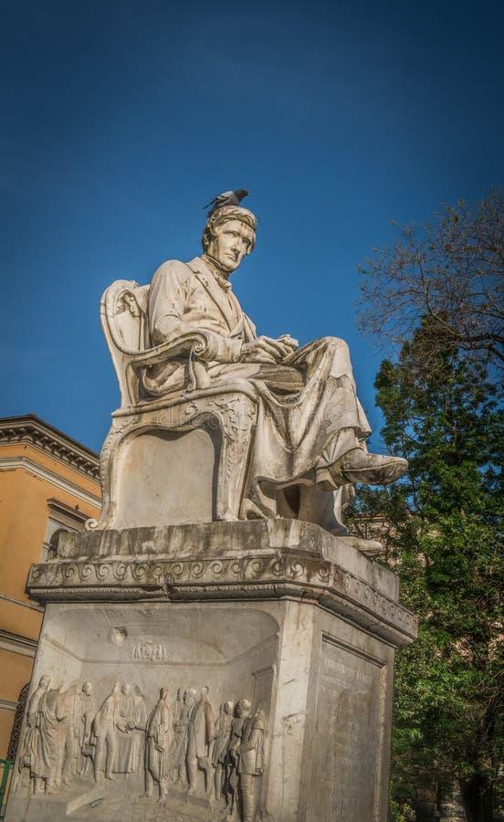 Estatua de mármol de Rossi en Carrara fotografía de archivo libre de regalías