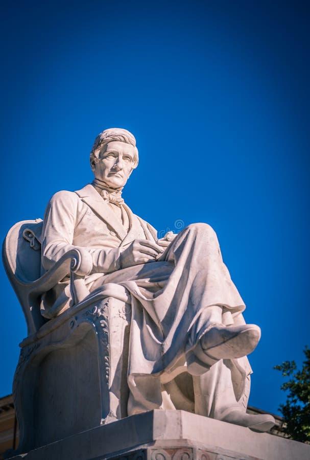 Estatua de mármol de Rossi en Carrara foto de archivo libre de regalías