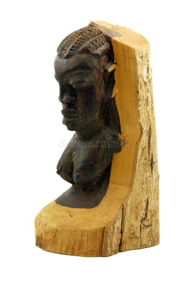 Estatua de madera africana fotografía de archivo libre de regalías