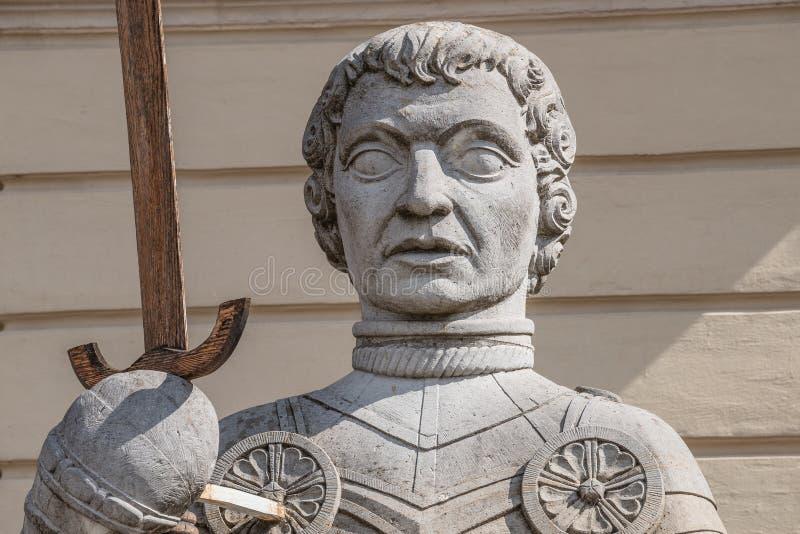Estatua de Magdeburger Roland Knight, ayuntamiento viejo, Rathaus, Magdeb imagen de archivo libre de regalías