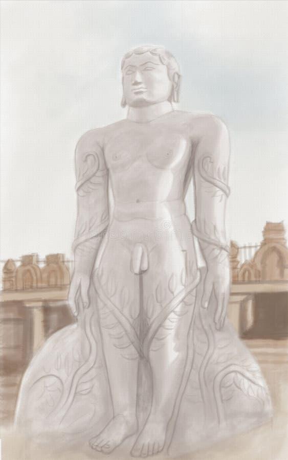 Estatua de Mahavira ilustración del vector