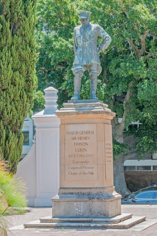 Estatua de Major General Sir Henry Timson Lukin imagen de archivo