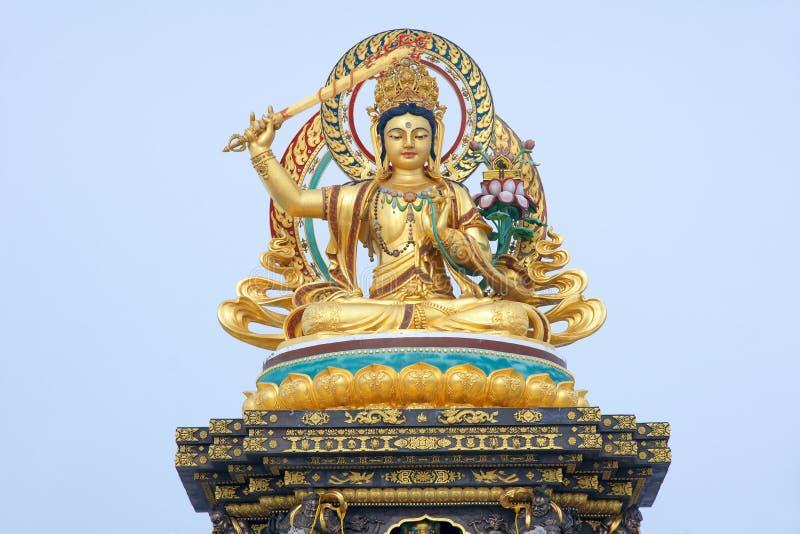 Estatua de Manjusri del Bodhisattva imagen de archivo libre de regalías