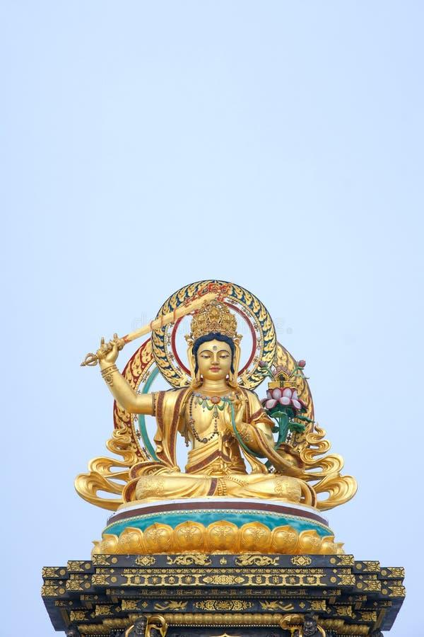 Estatua de Manjusri del Bodhisattva imagen de archivo