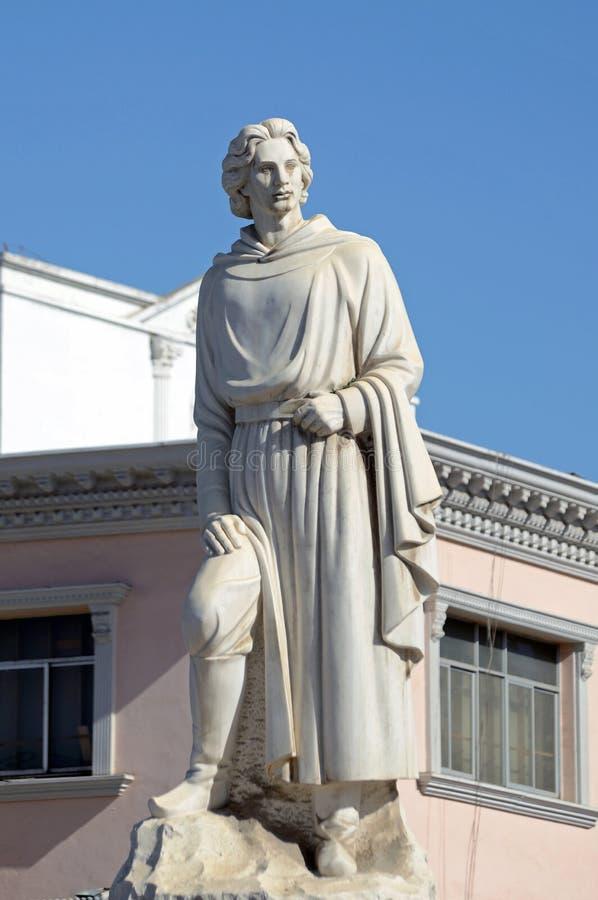 Estatua de Marco Polo fotos de archivo