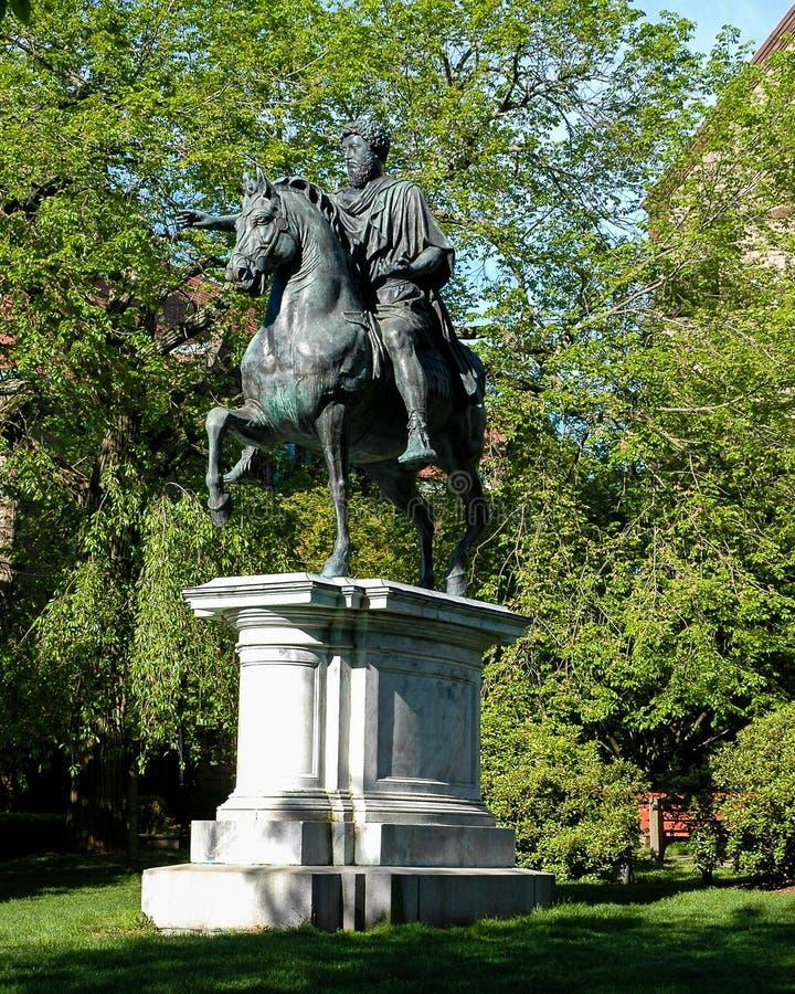 Estatua de Marcus Aurelius en Brown University foto de archivo libre de regalías