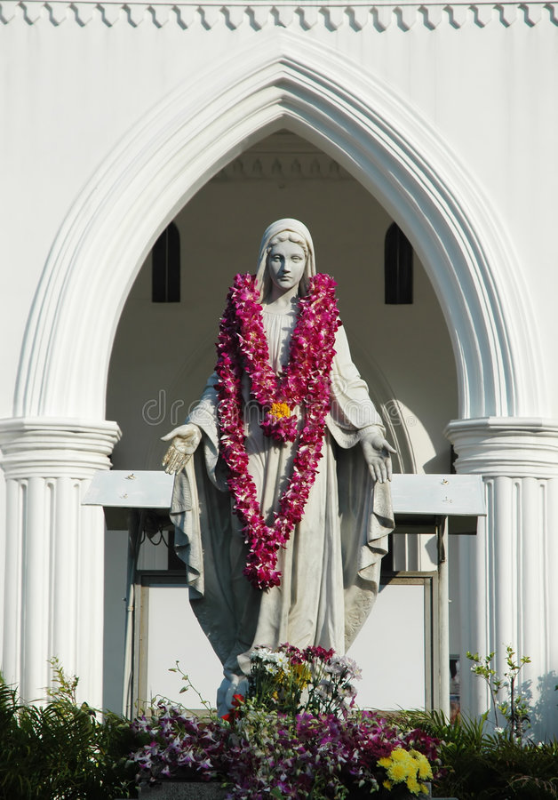 Estatua De Maria Fotos de archivo