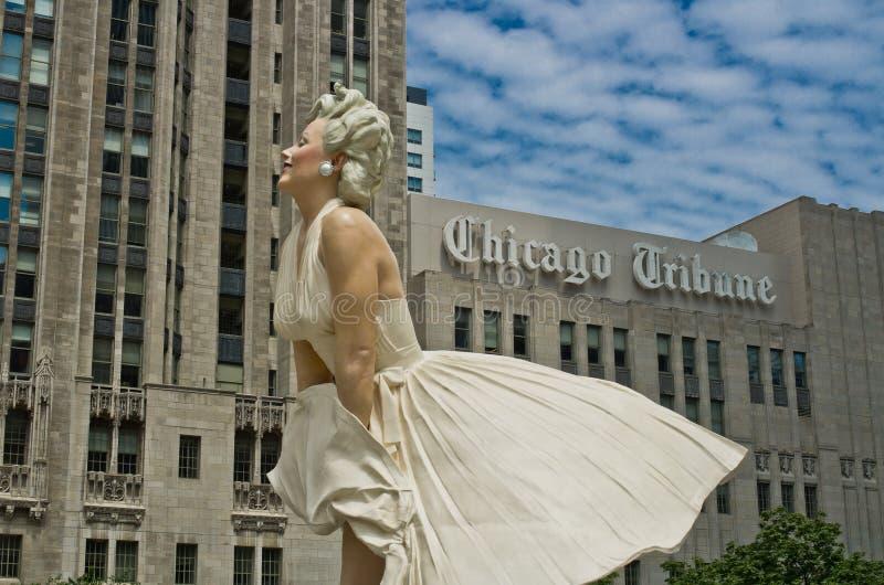 Estatua de Marilyn Monroe en Chicago imagen de archivo