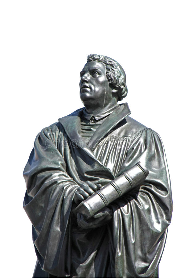 Estatua de Martin Luther en Dresden fotografía de archivo