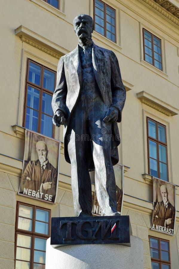 Estatua de Masaryk del carrascal del ¡del ¡Å de TomÃ, Praga fotos de archivo libres de regalías