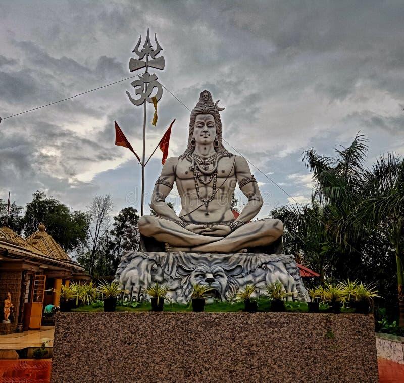 Estatua de meditar de señor Shiva foto de archivo libre de regalías