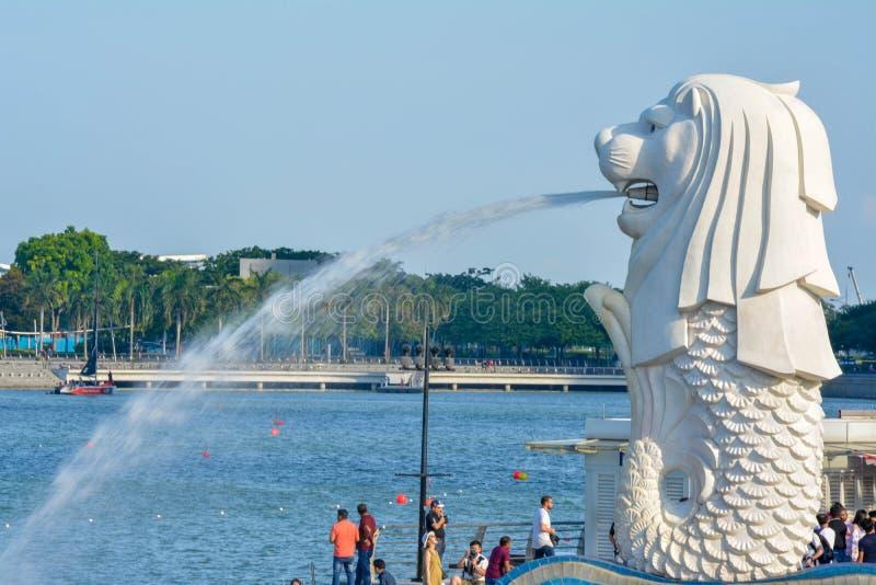 Estatua de Merlion en Singapur fotografía de archivo