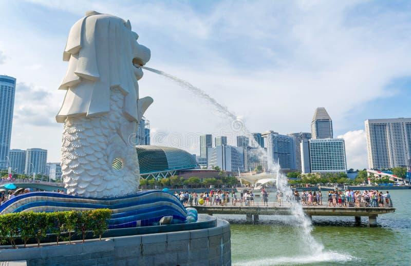 Estatua de Merlion en Singapur fotos de archivo libres de regalías