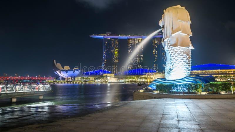 Estatua de Merlion en Singapur imágenes de archivo libres de regalías