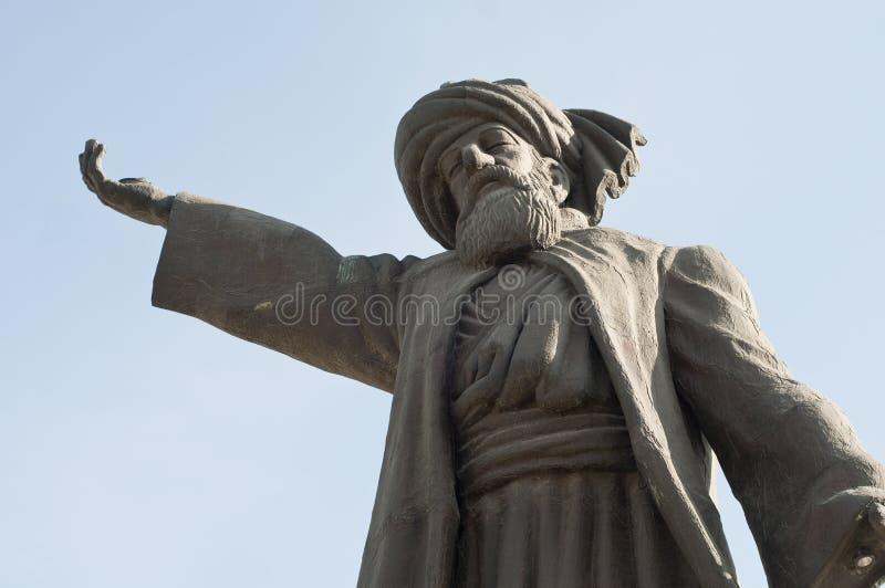 Estatua de Mevlana Rumi fotografía de archivo libre de regalías
