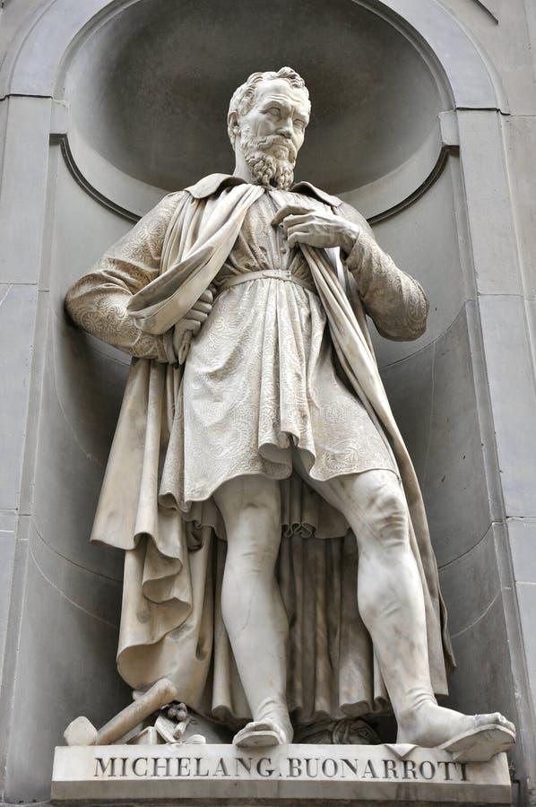 Estatua de Michelangelo, Florencia, Italia imagen de archivo libre de regalías