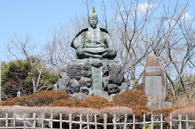Estatua de Minamoto ningún Yoritomo - fundador y el primer shogún del shogunate de Kamakura fotografía de archivo