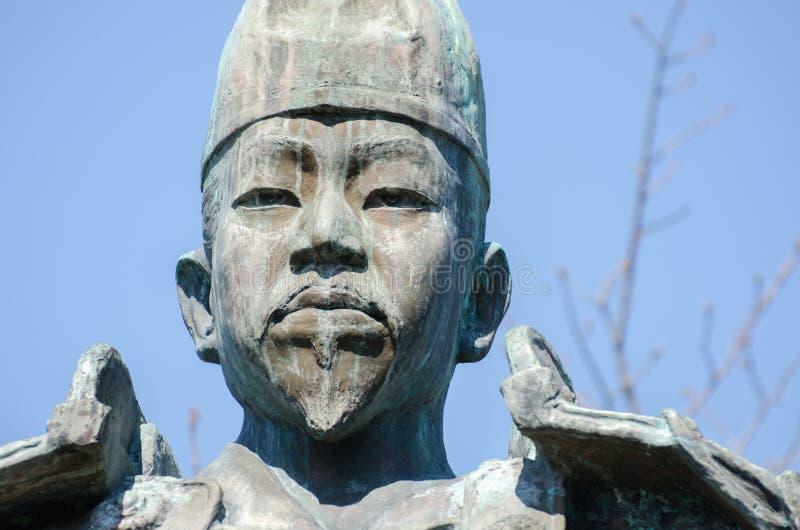 Estatua de Minamoto ningún Yoritomo - fundador y el primer shogún del shogunate de Kamakura imagen de archivo libre de regalías
