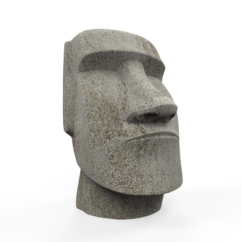 Estatua de Moai aislada fotos de archivo