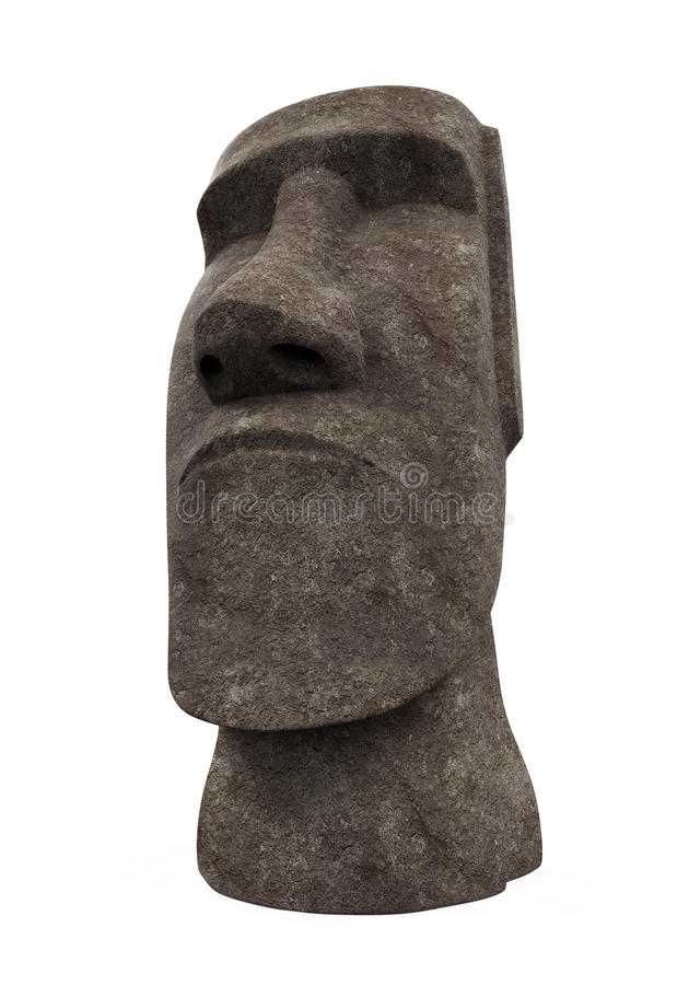 Estatua de Moai aislada libre illustration