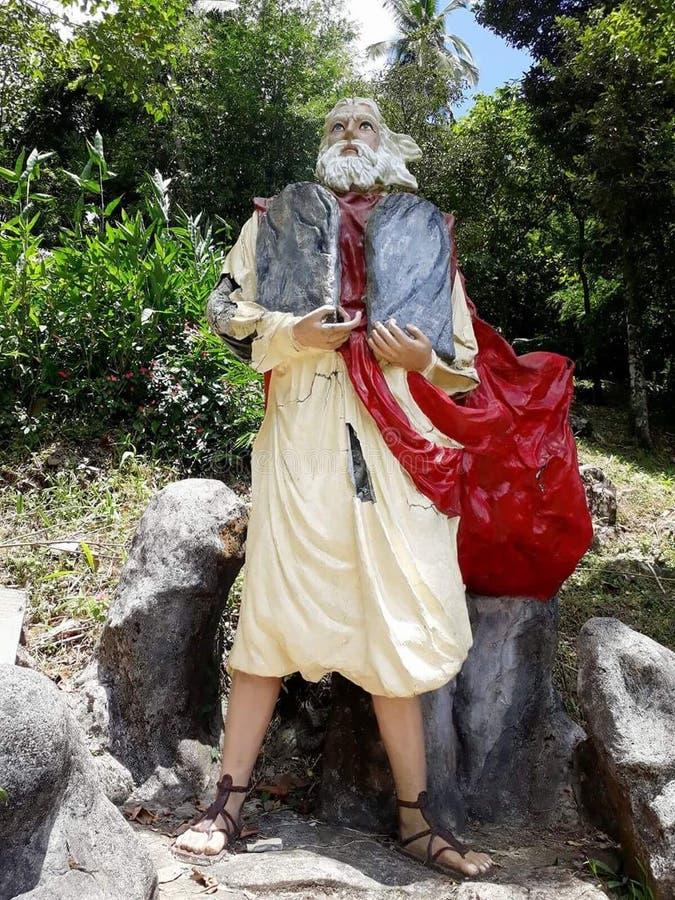 Estatua de Moses en ni Hesus de Kamay fotografía de archivo libre de regalías