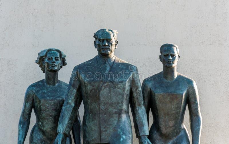 Estatua de Mustafa Kemal Ataturk en Uskudar, Estambul, Turquía, a orillas del Bósforo en Anatolia fotos de archivo libres de regalías