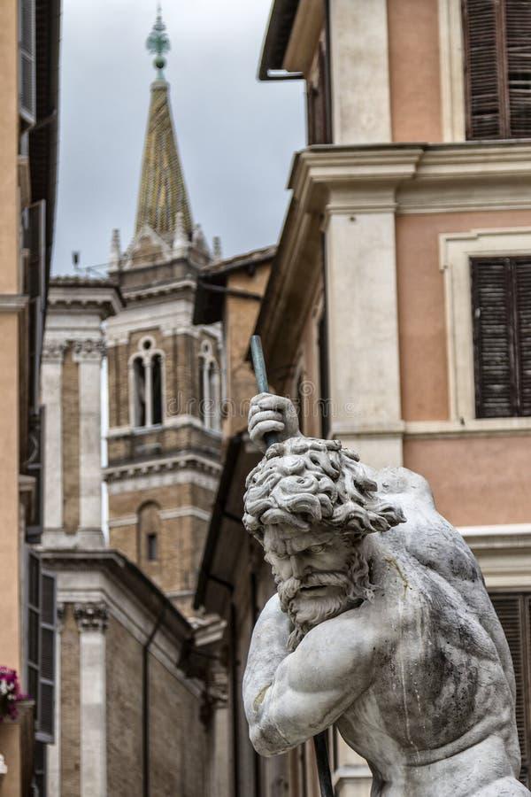 Estatua de Neptuno imagenes de archivo